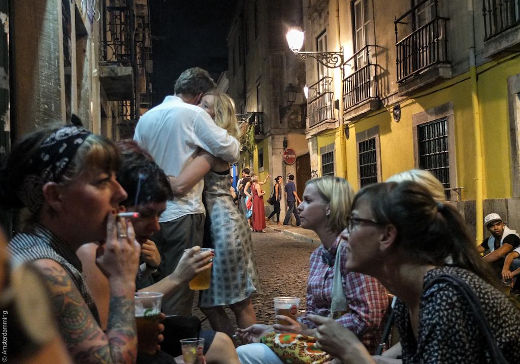 Lisbon, Bairro Alto by Night