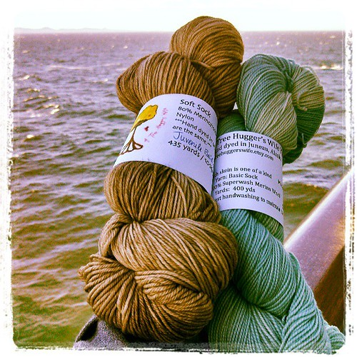 Alaska #yarn haul from Seaside Yarns in Juneau. #ATreeHuggersWife #knitting