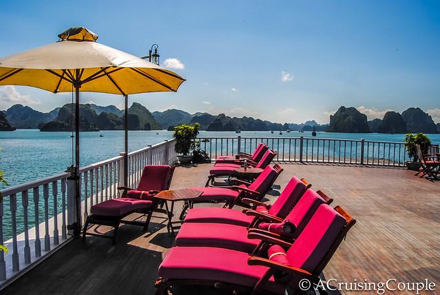 Halong Bay Boat Sun Deck