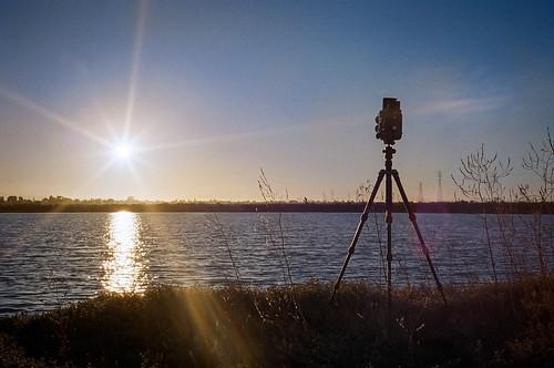 blue sunset sky color mamiya tlr film landscape twilight kodak rangefinder 35mmfilm lensflare paloalto 40mm canonet ql17 baylands sunstar c330 ultramax400