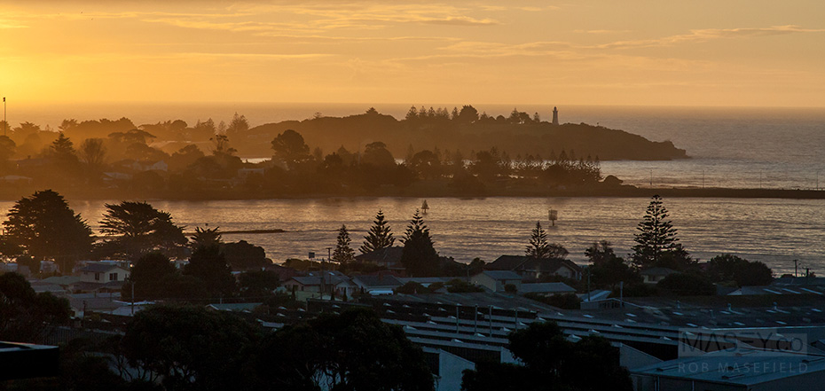Sunset over Devonport.