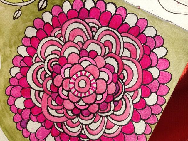 Pink Mandala Doodle