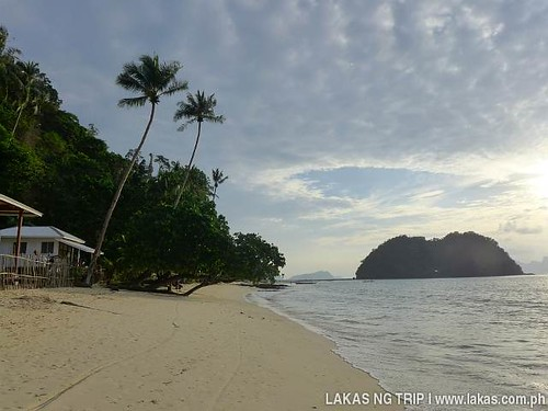 The island that we were trying to get to at Maremegmeg Beach in El Nido, Palawan, Philippines