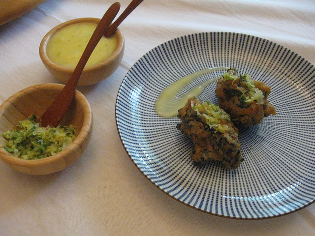 Seaweed & tofu beignets