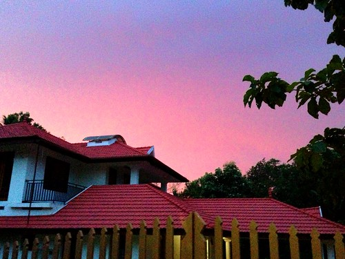 sunset sky house home beauty twilight dusk traditional kerala kollam surya colorvibefilter