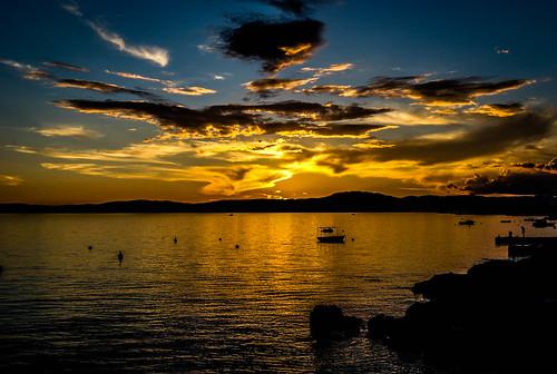 sunset croatia hrvatska crikvenica kvarner