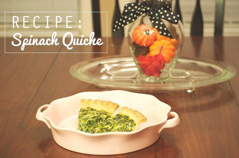 Recipe: Spinach Quiche