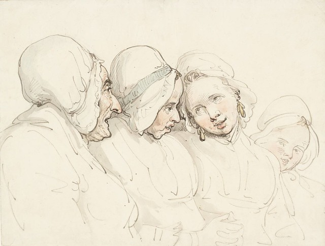 ' Four Generations ' Thomas Rowalandson ( English 1756-1827) Ink and watercolour on paper. Circa unknown , Tate Gallery London
