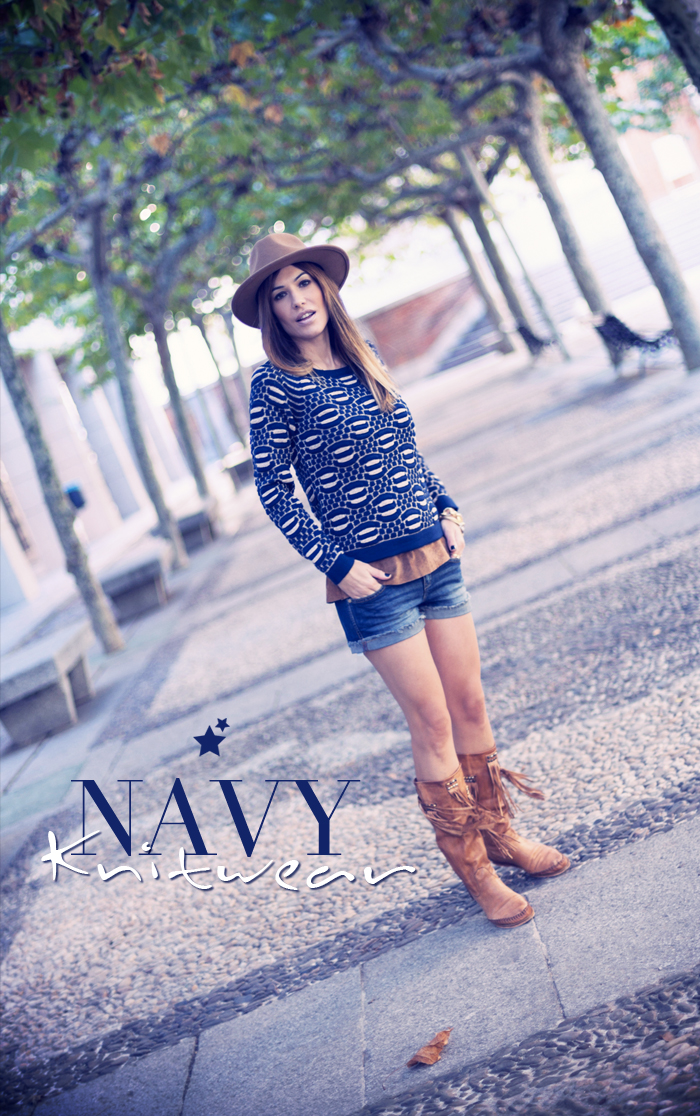 street style barbara crespo navy knitwear eleven paris outfit