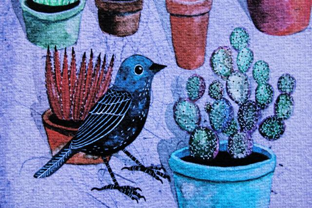 Pots print detail