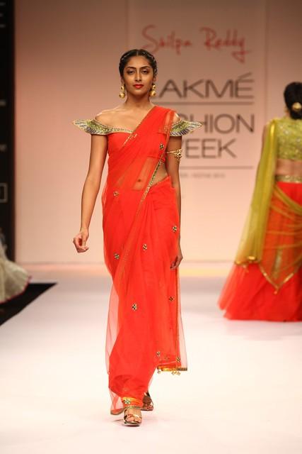 Designer Shilpa Reddy LFW WF 2013 (34)