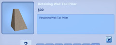 Retaining Wall Tall Pillar