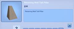 Retaining Wall Tall Pillar