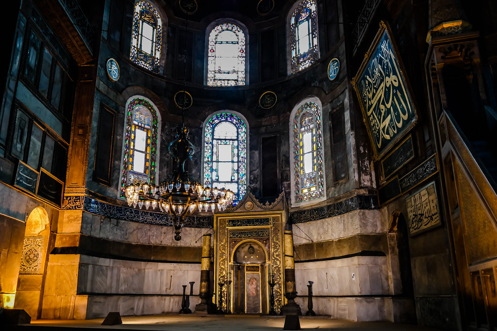 Inside Hagia Sophia - The Altar Was Turned to Point Towards Mecca