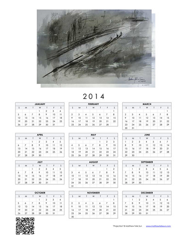 2014 Calendar - Projection