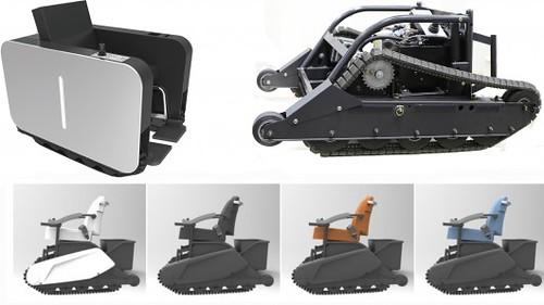 UNiMO – кресло-каталка с электроприводом и амбициями вездехода