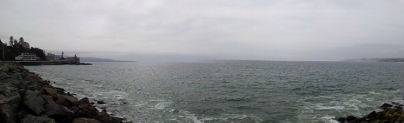 panorama of the pacific from vina del mar