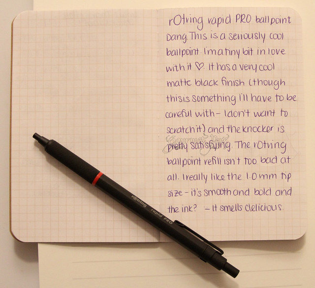 rOtring Rapid Pro Ballpoint Writing Sample 1