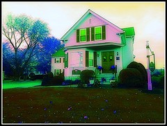 The Pink House At Dawn In Springtime - Photo by STEVEN CHATEAUNEUF - November 27, 2013