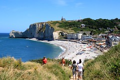 Views from Falaise Aval at Etretat