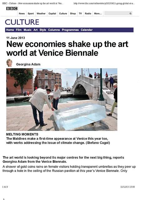 Stefano Cagol .The Ice Monolith. BBC Culture