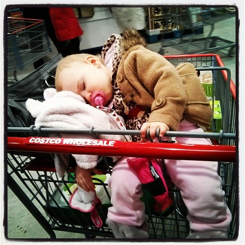 Someone was a tad tired at #Costco this afternoon. #MomOfTheYear