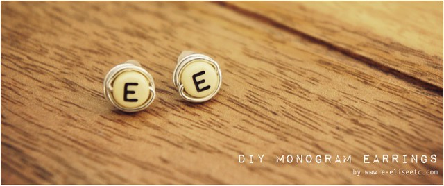 diy monogram earrings 1
