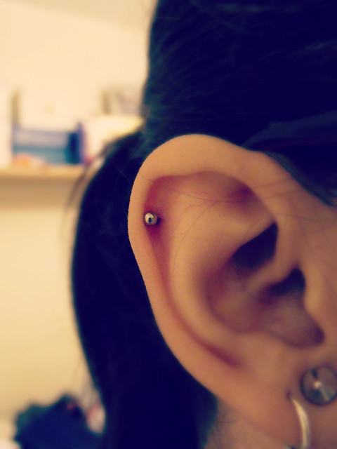 Ear piercing 1st 2014