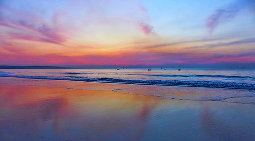 travel sunset seascape nature reflections landscape rainbow colorful vietnam phanthiet muinebeach rositasoimage
