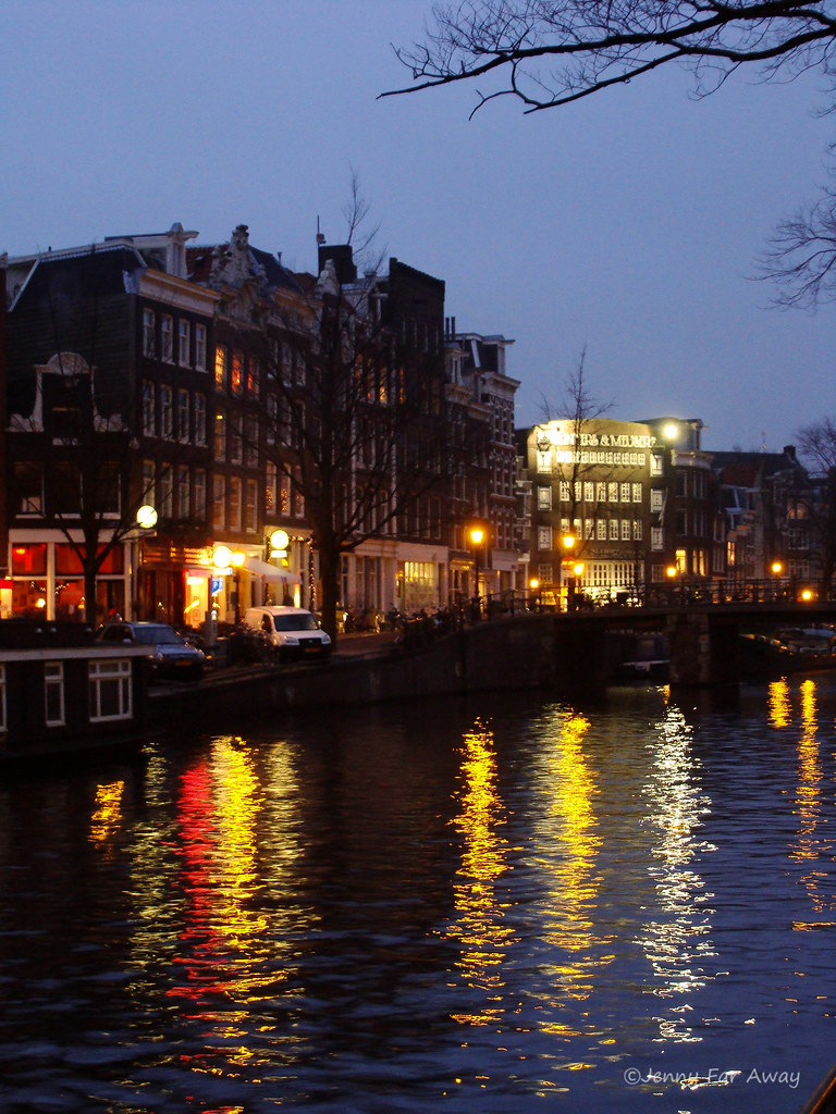 Amsterdam winter evening