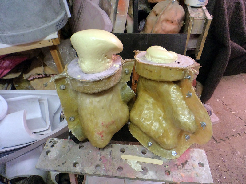 Hand Casts Filled With Foam
