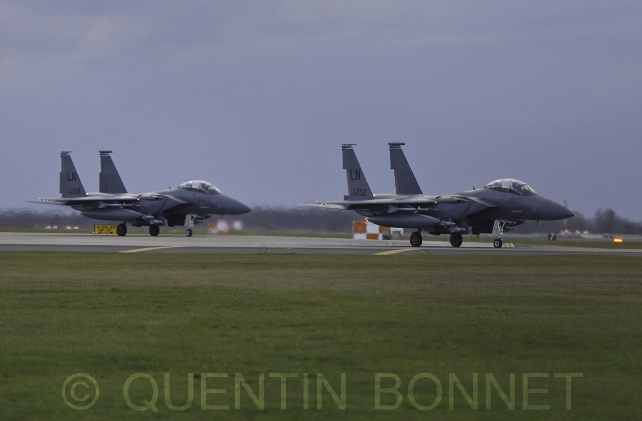 USAF McDonnell Douglas F-15C LN202 & LN205