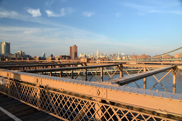 Vistas desde el puente de Brooklyn