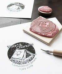 Custom Rubber Stamps for a Camping Wedding