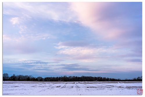 travel sunset snow newyork ma unitedstates geneseo mountmorris spring2014
