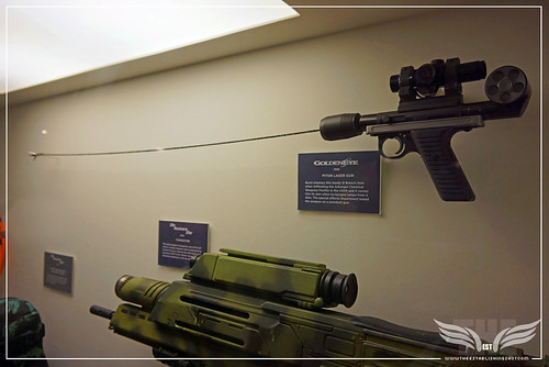 The Establishing Shot BOND IN MOTION - PITON GUN FROM GOLDENEYE &  MODIFIED HECKLER & KOCH G36K FROM DIE ANOTHER DAY @ LONDON FILM MUSEUM COVENT GARDEN by Craig Grobler