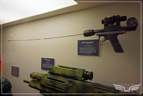 The Establishing Shot BOND IN MOTION - PITON GUN FROM GOLDENEYE &  MODIFIED HECKLER & KOCH G36K FROM DIE ANOTHER DAY @ LONDON FILM MUSEUM COVENT GARDEN by Craig Grobler