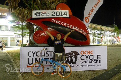 BilogGirl in OCBC Cycle Singapore 2014