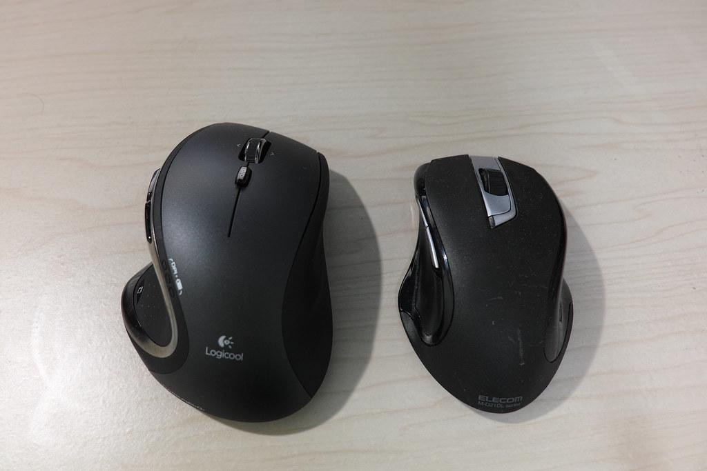 m950tとエレコムのマウス
