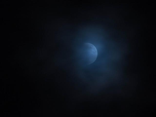 Gauzy moon