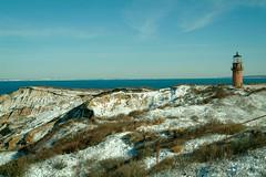 Aquinnah Cliffs with Snow - Martha's Vineyard