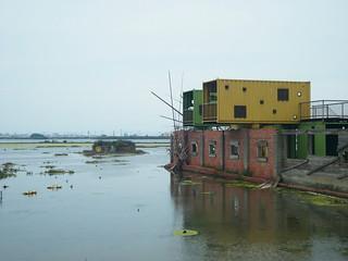 成龍大小偵探賞鳥之處「賞鳥貨櫃屋」。(圖片來源:環境資訊中心)