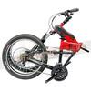 245-000-B-P-007 PARACYCLE 小傘兵前避震折疊單車20吋24速前碟亮紅色-3