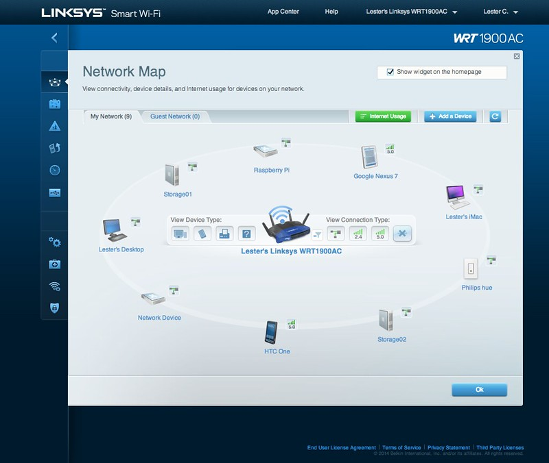 Linksys Smart Wi-Fi - Network Map