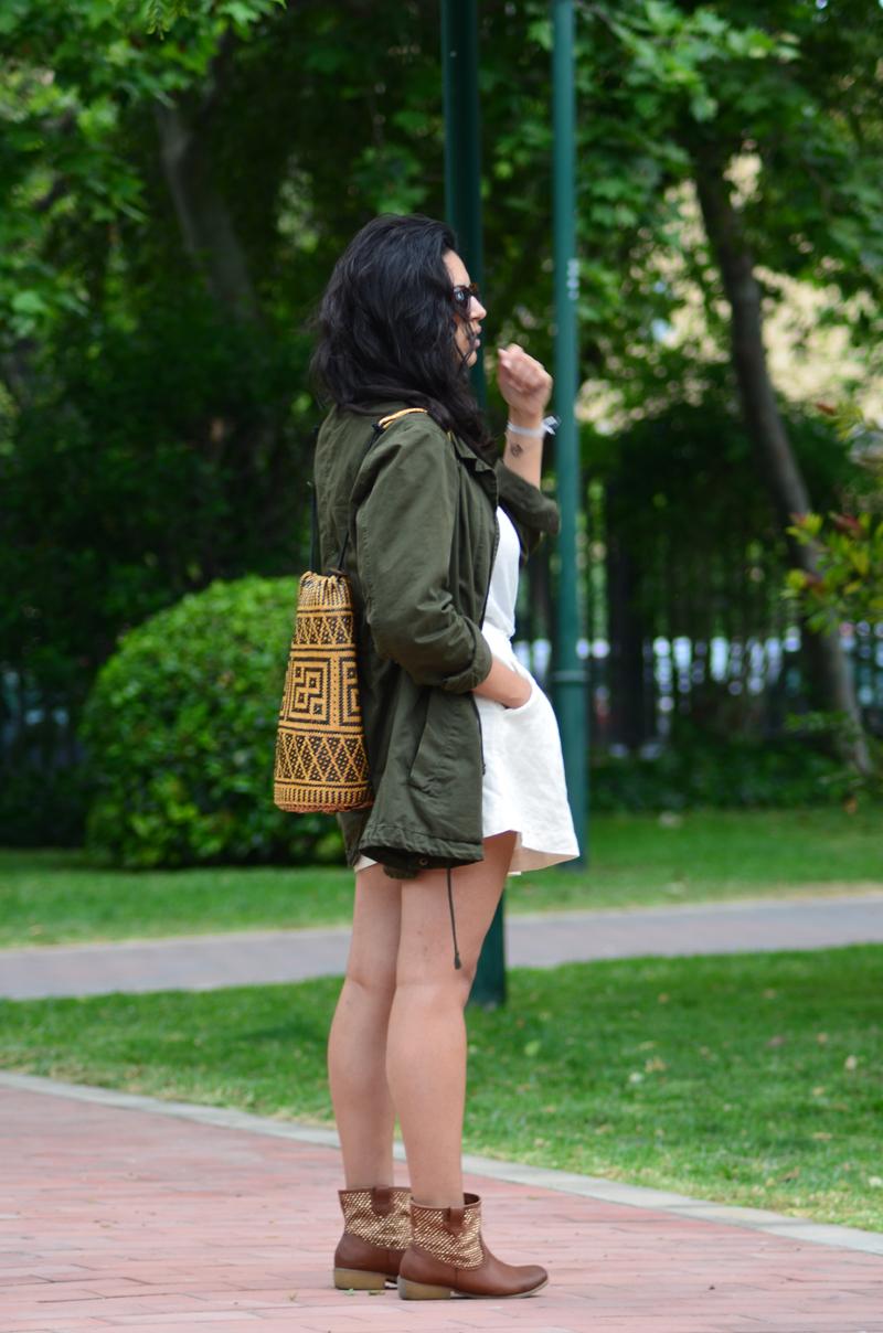florenciablog green parka zara stradivarius look beig bolso hippie mochila gandia fashion style (14)