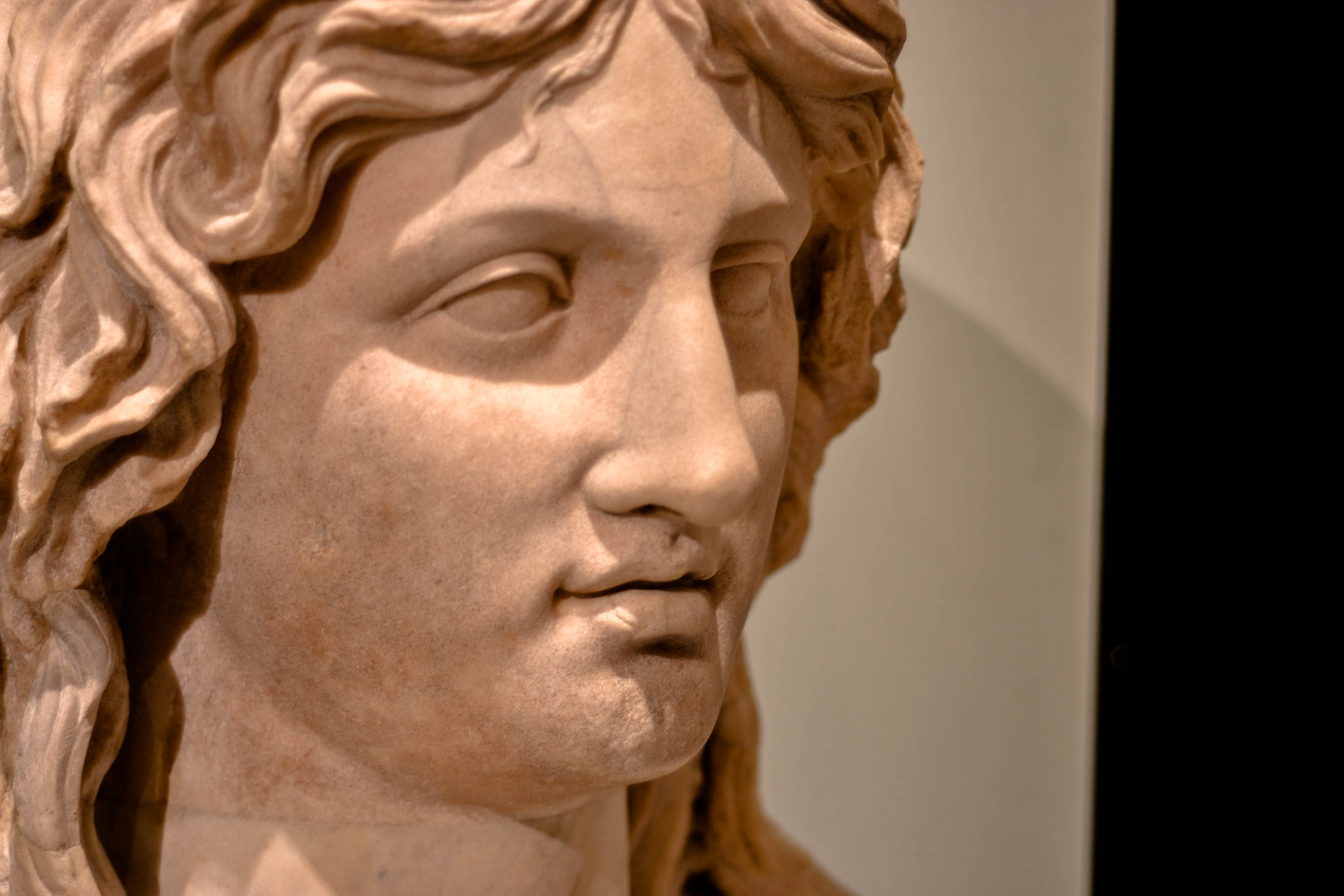 Marble head of a Barbarian woman AD 100s