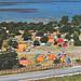 Old postcard Norderstrands camp Visby Gotland Sweden 60s