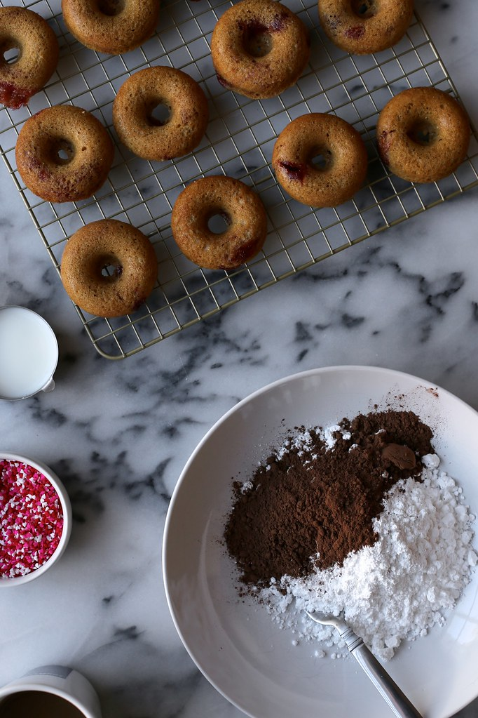 Mini Jam-Swirled Baked Donuts