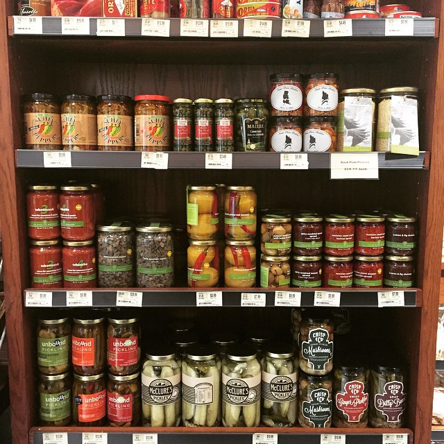 The artisanal pickle selection at the Franklin Building Di Bruno Bros is quite impressive!