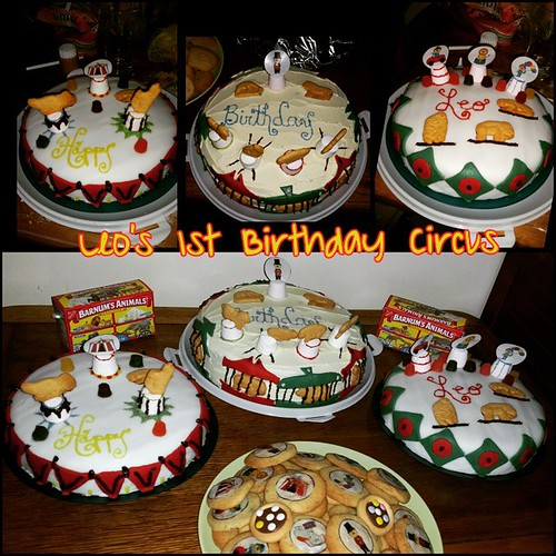 Leo's 3 Ring Circus Cakes. #PhotoGrid